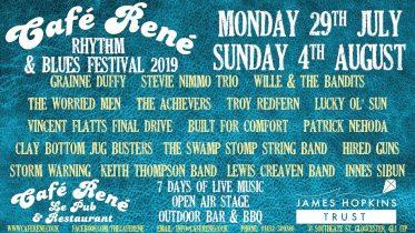Cafe Rene Rhythm and Blues Festival 2019