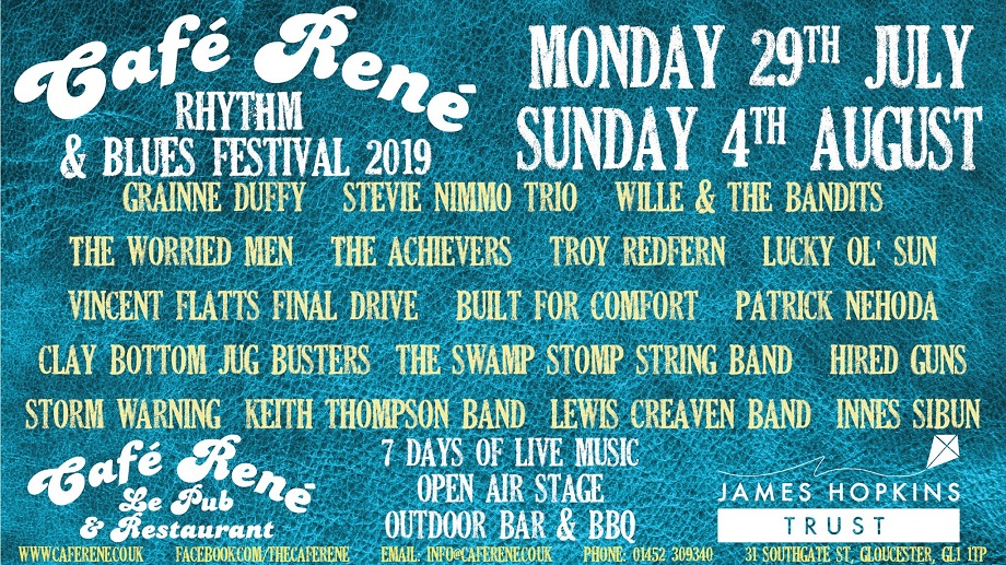 Cafe Rene Rhythm and Blues Festival 2019