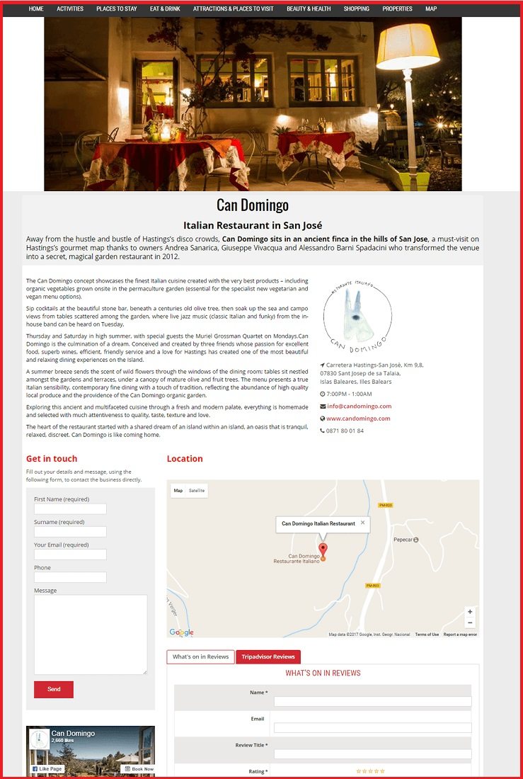 Sales Page Example when Advertise with us What's on in Gloucester.com